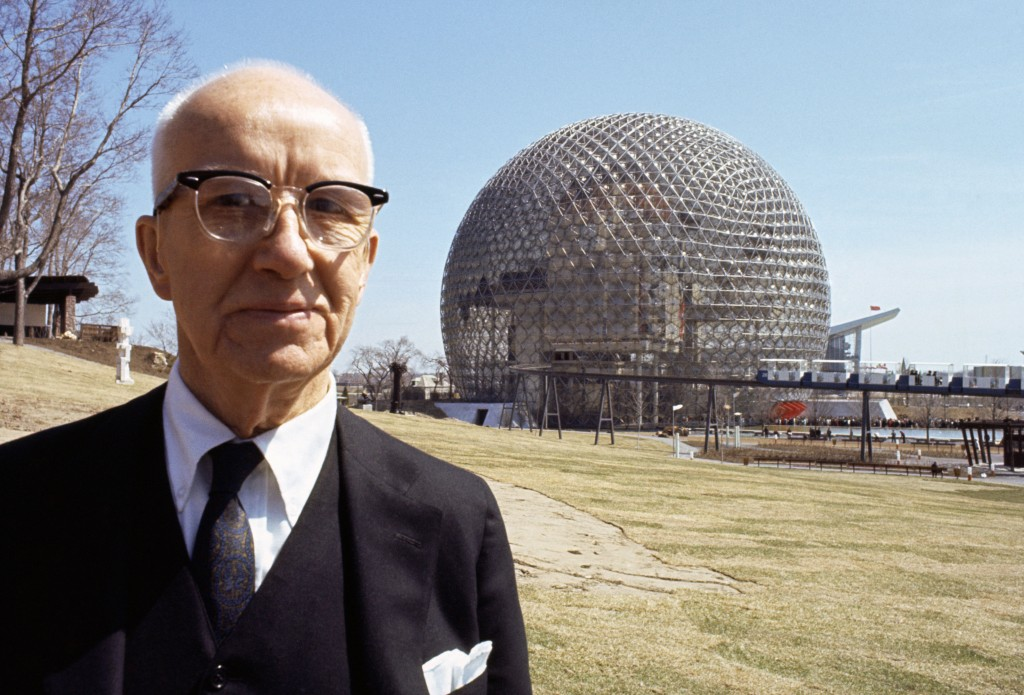 Buckminster FULLER before his geode dome at Montreal World Fair. Contact email: New York : photography@magnumphotos.com Paris : magnum@magnumphotos.fr London : magnum@magnumphotos.co.uk Tokyo : tokyo@magnumphotos.co.jp Contact phones: New York : +1 212 929 6000 Paris: + 33 1 53 42 50 00 London: + 44 20 7490 1771 Tokyo: + 81 3 3219 0771 Image URL: http://www.magnumphotos.com/Archive/C.aspx?VP3=ViewBox_VPage&IID=2S5RYDYUC9M&CT=Image&IT=ZoomImage01_VForm